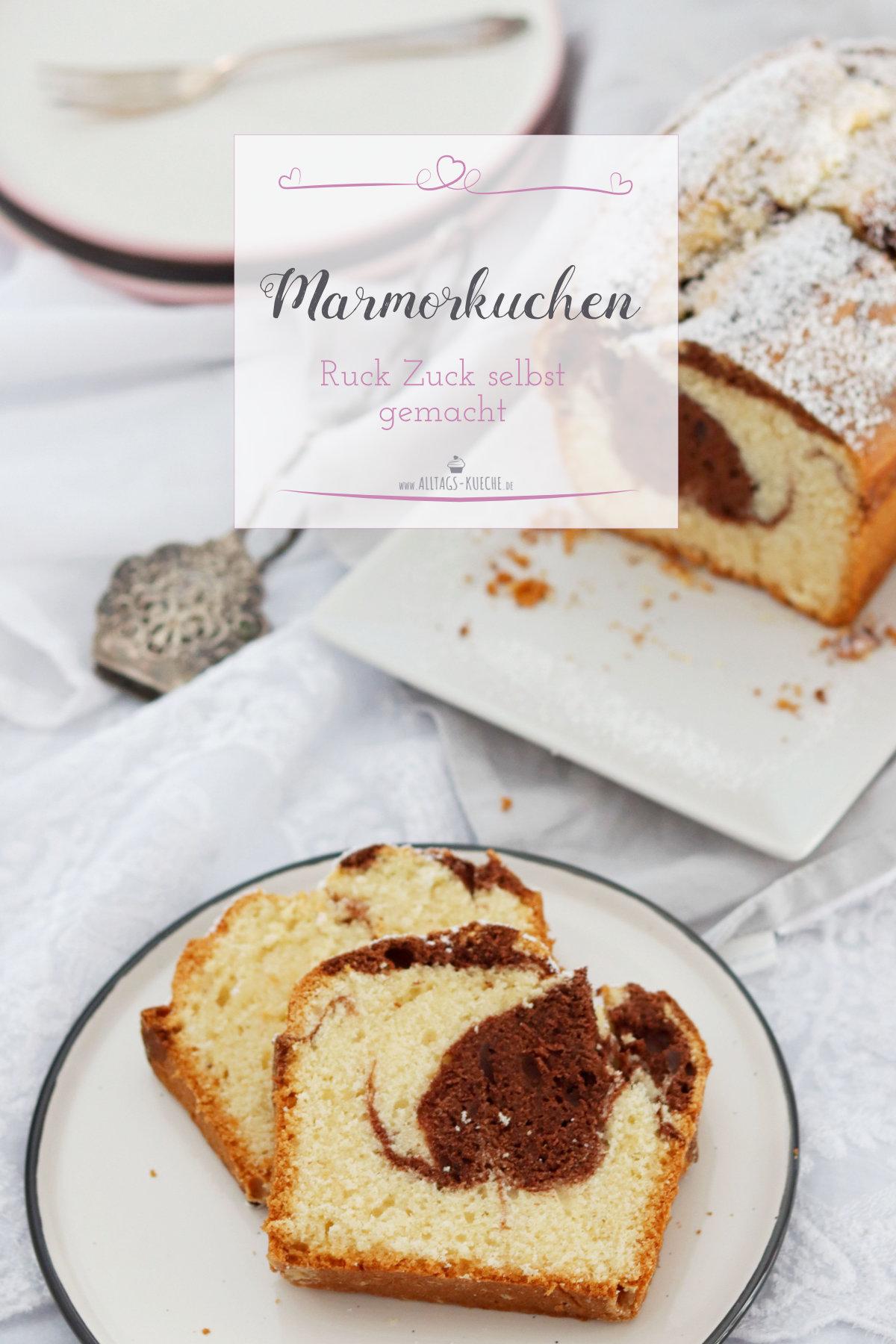 Frischer Marmorkuchen