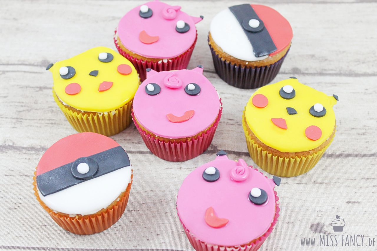 Rezept: Pokemon-Muffins mit Fondant