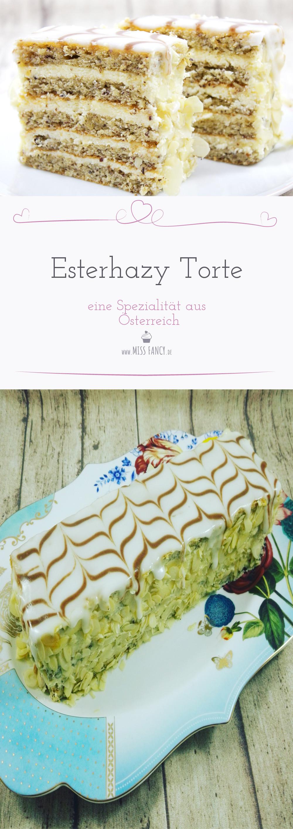Eine Torte die in Österreich serviert wird benannt nach Familie Esterhazy