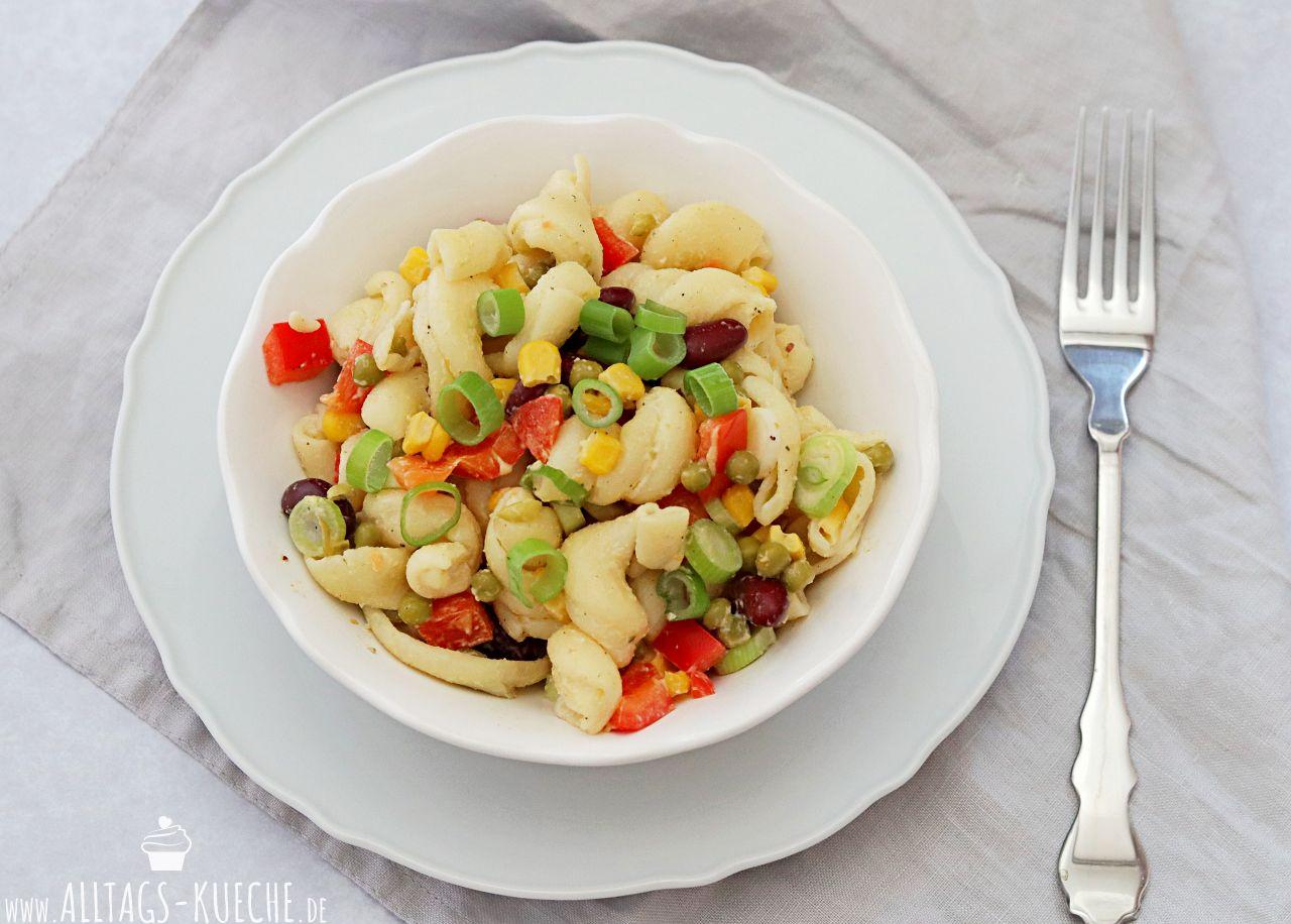 Leckerer Sommersalat Nudelsalat Alltagsküche