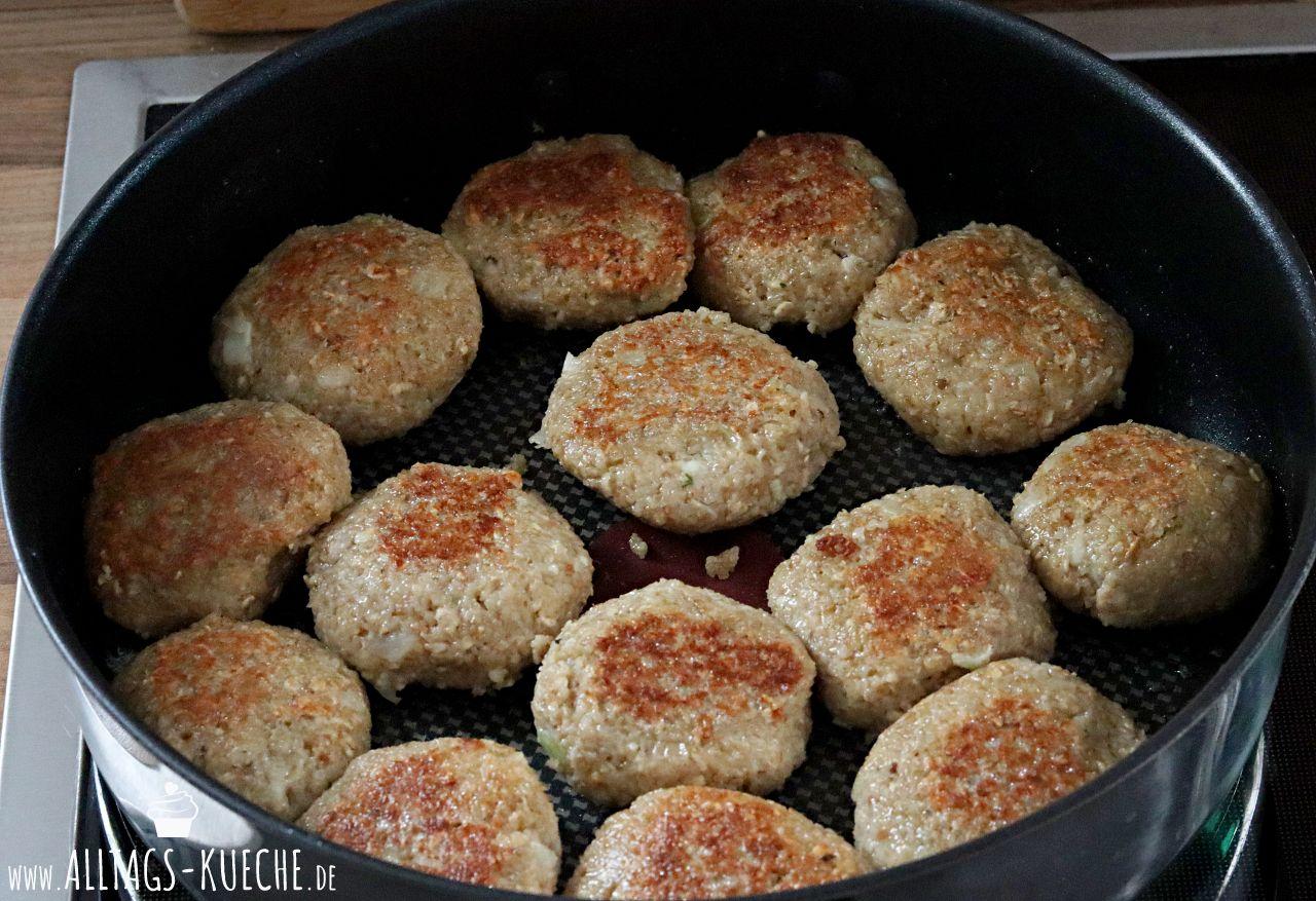 Rezept vegetarische Gruenkern Frikadellen