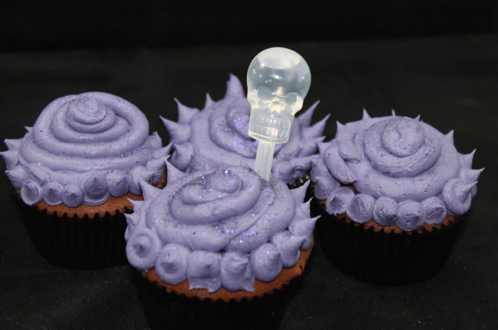 Lila Schokoladen Cupcakes Halloween