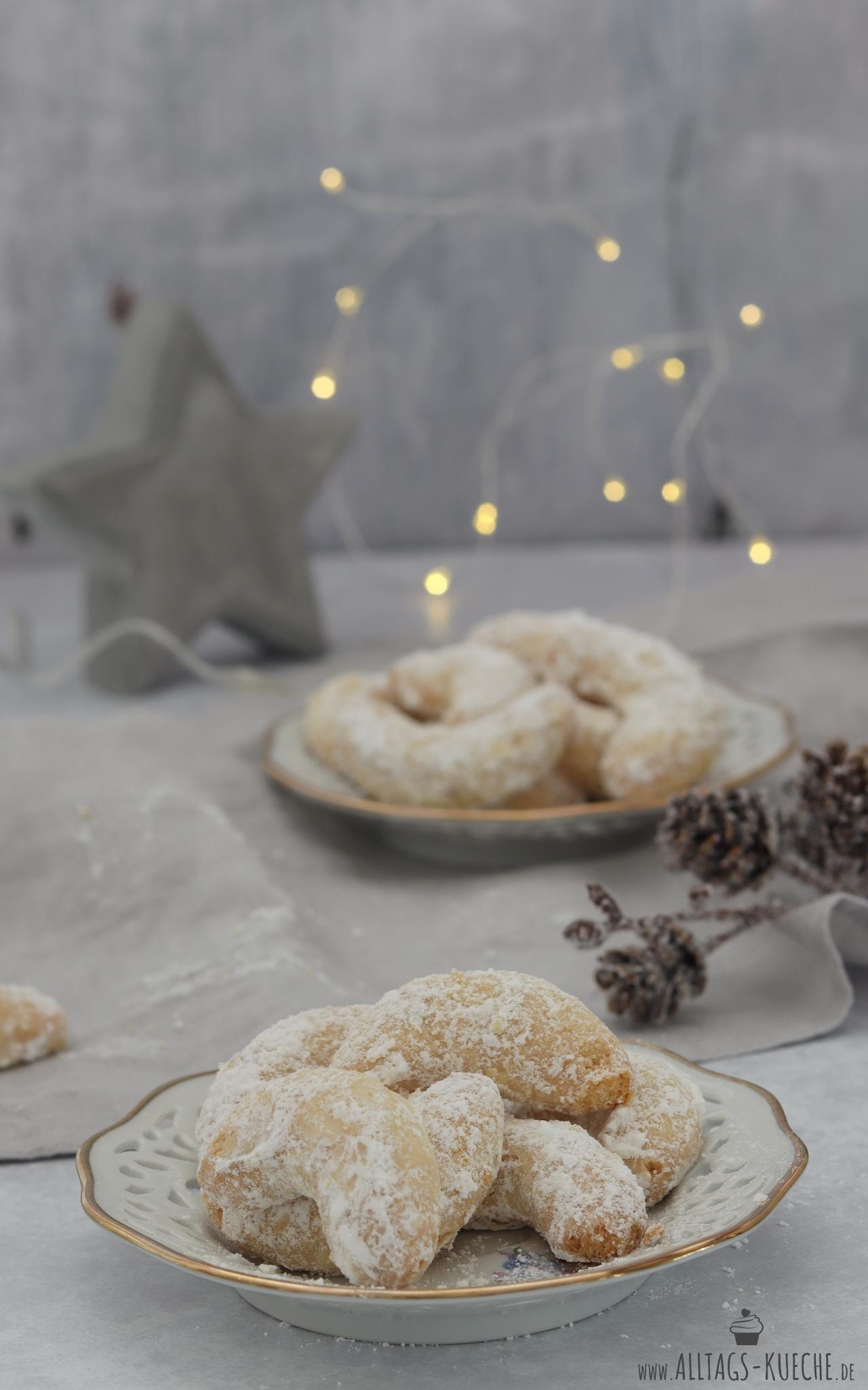 Vanillekipferl Plätzchen zu Weihnachten