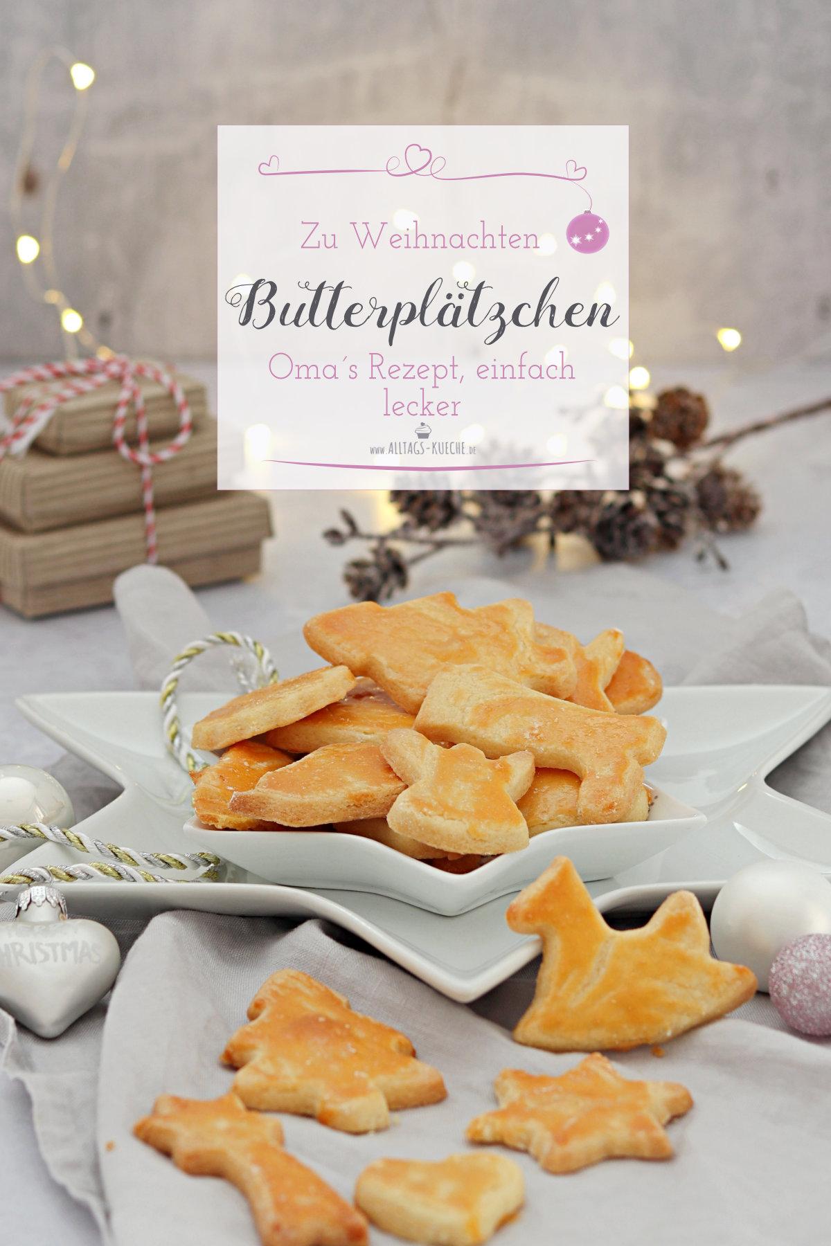 Rezept für ganz leckere Butterplätzchen