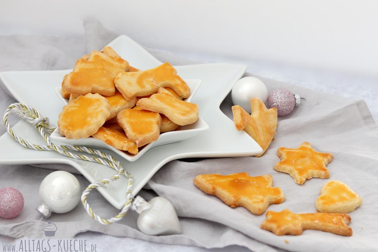 Klassische Butterplätzchen Weihnachtsplätzchen