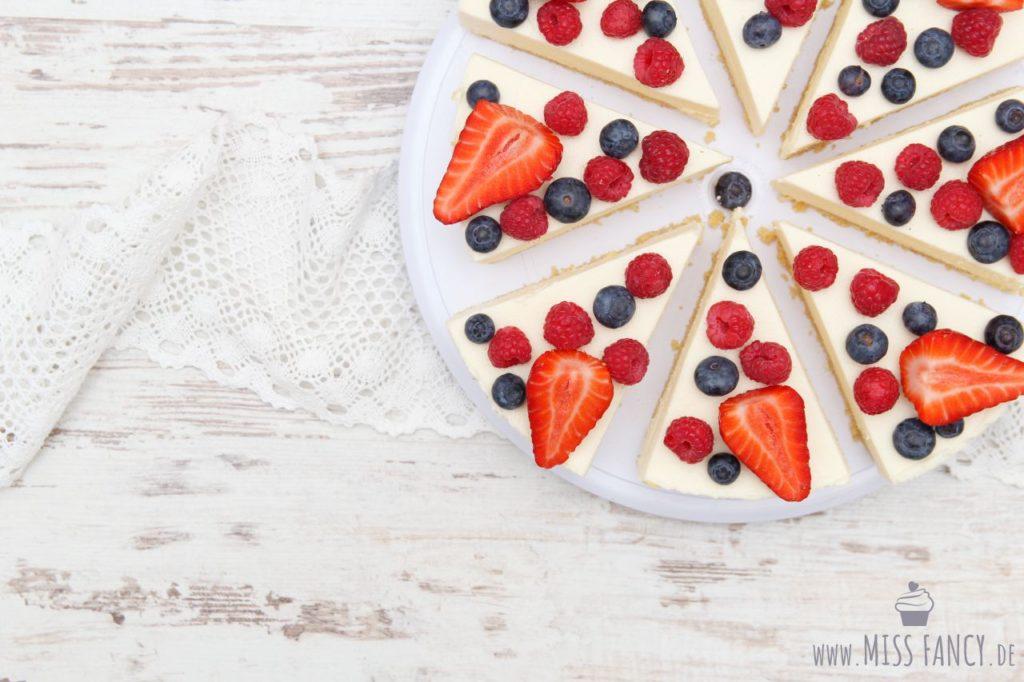 Leckerer Cheesecake mit Amaretto verfeinert