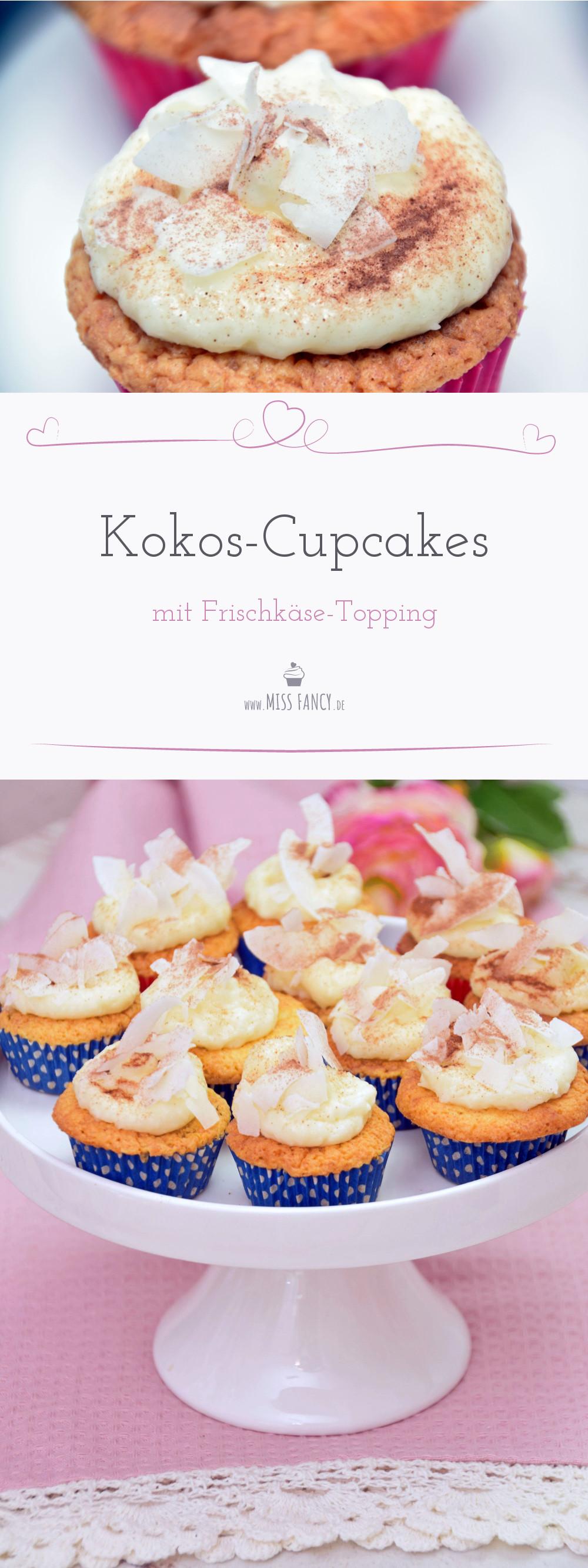 Kokos Cupcakes rezept missfancy