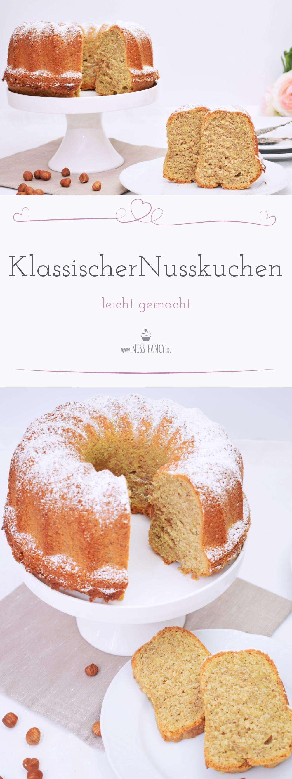 Rezept Nusskuchen klassisch Missfancy Foodblog