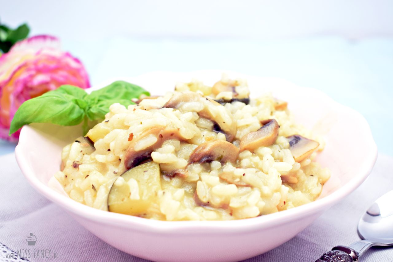 Rezept Risotto mit Champignons und Zucchini