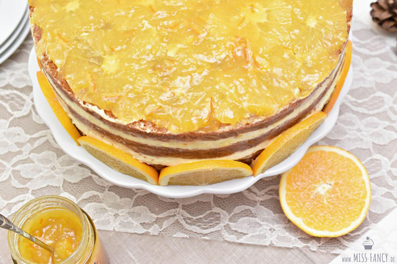Rezept-leckere Weihnachtstorte-Orangentorte-Zentis Missfancy
