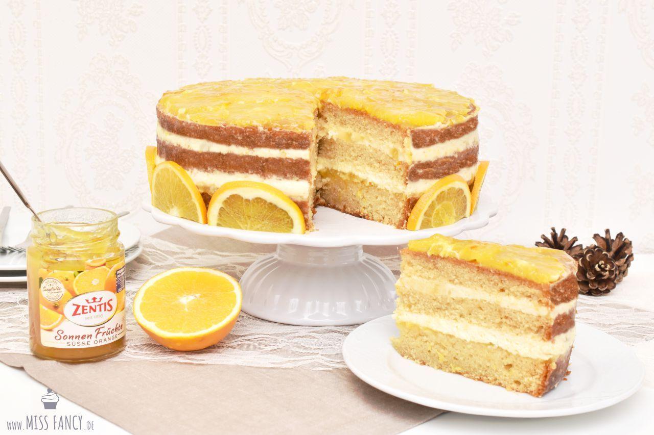 Rezept Orangentorte mit Zentis Marmelade