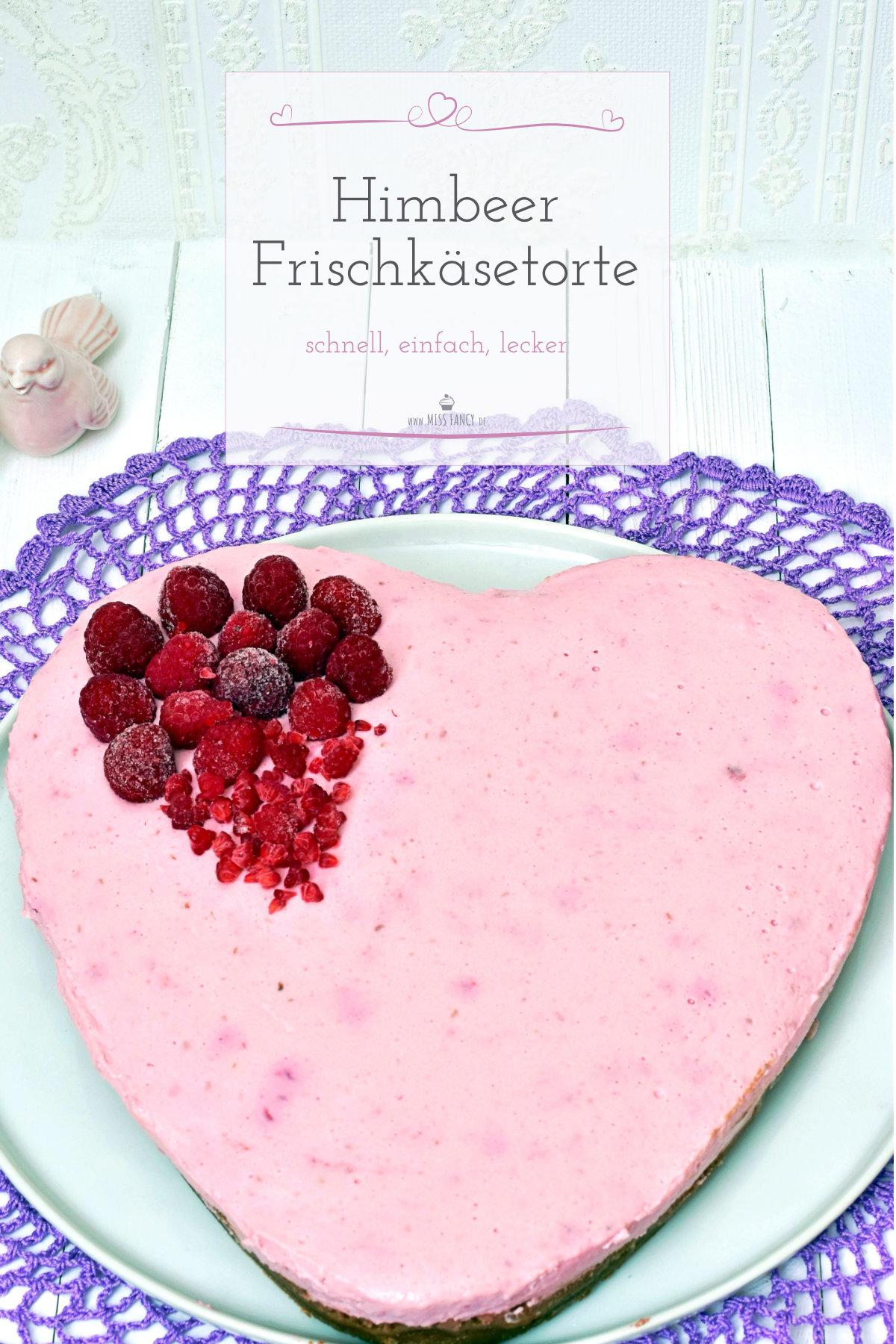 Himbeer Frischkäsetorte zu Valentinstag