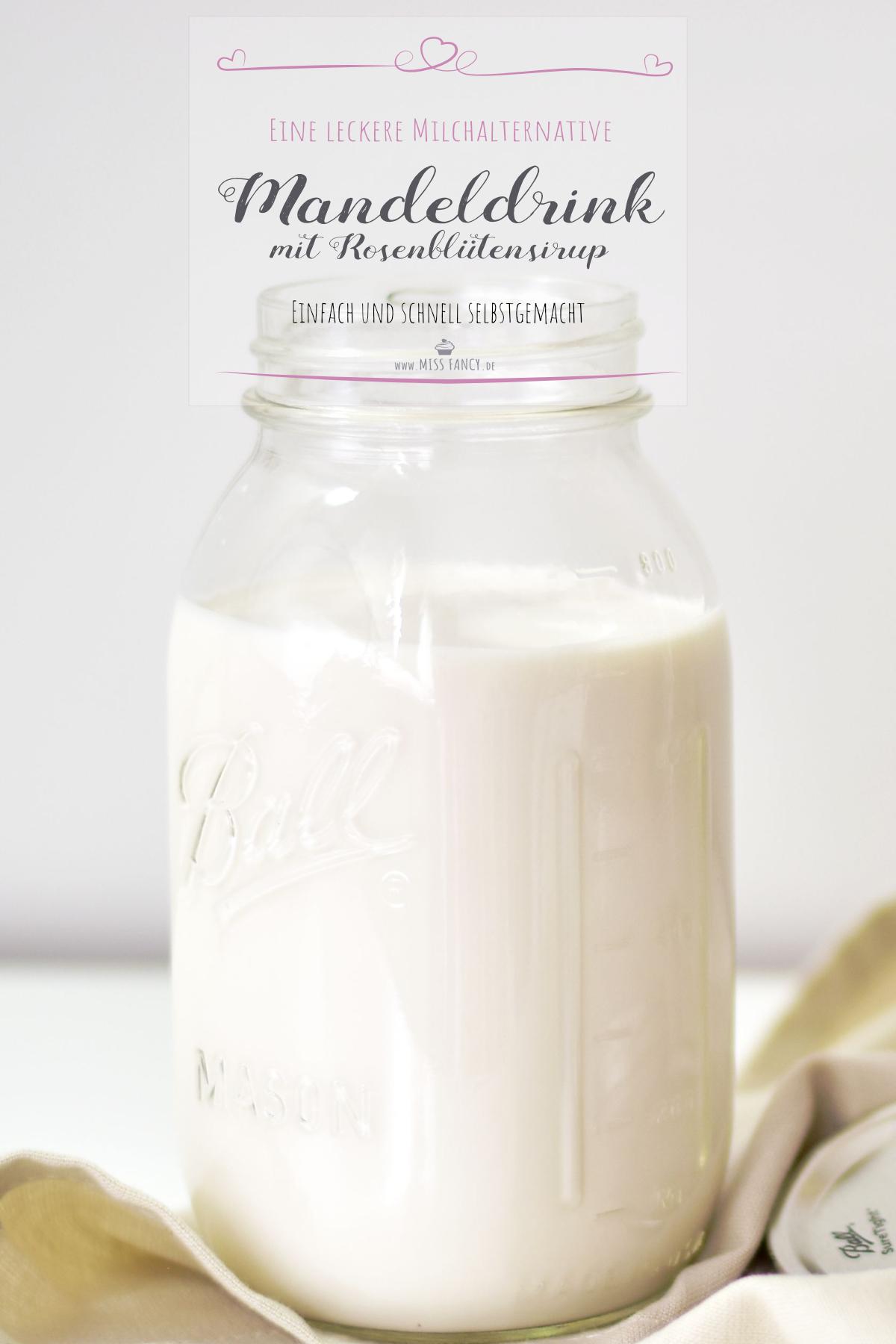 Rezept-Mandeldrink-Rosenblütensirup