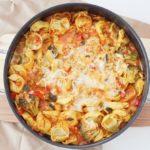 Schnell gemacht: Tortellini-Gemüsepfanne