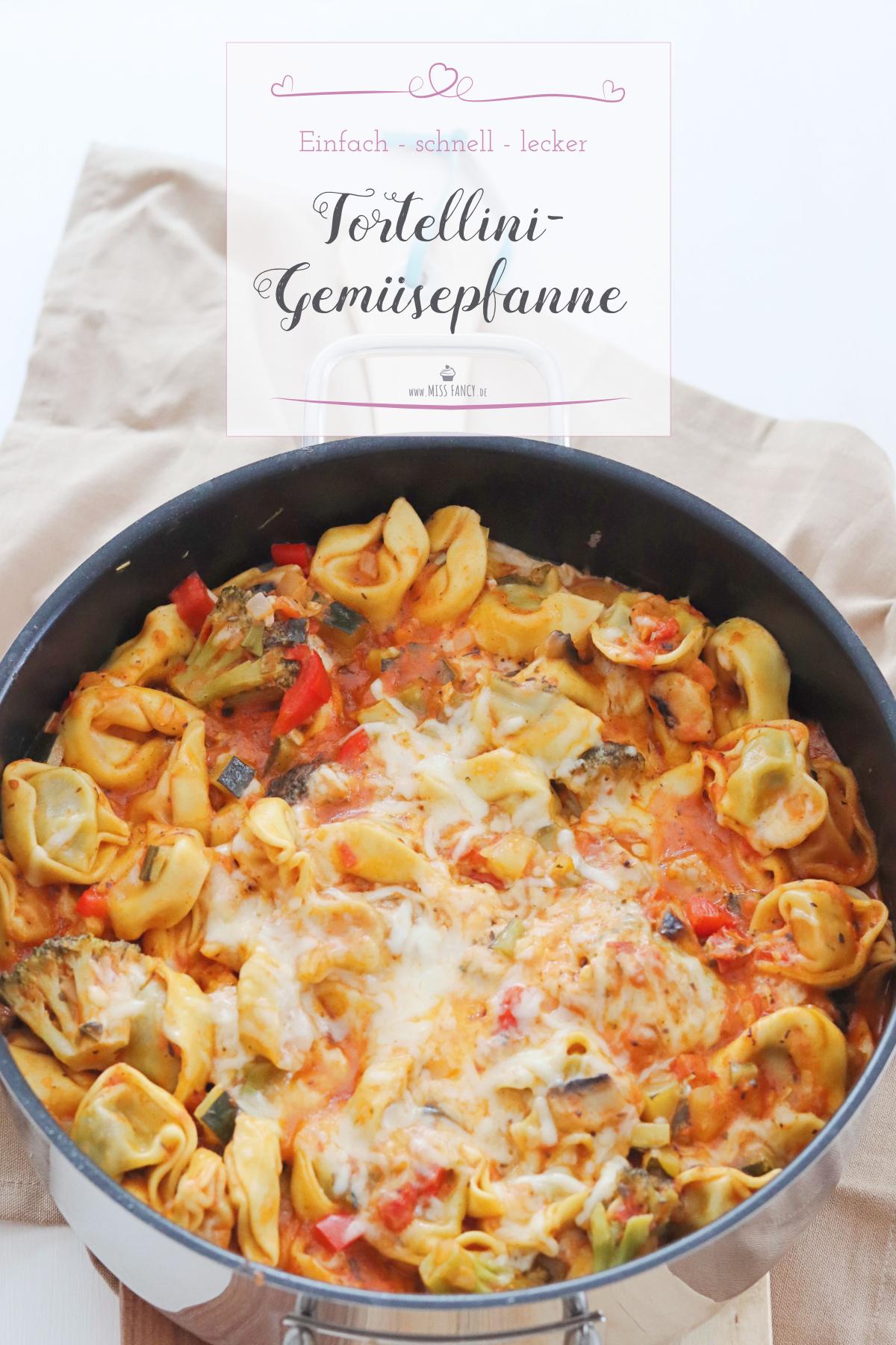 Rezept-Tortellini-Gemüsepfanne-einfach