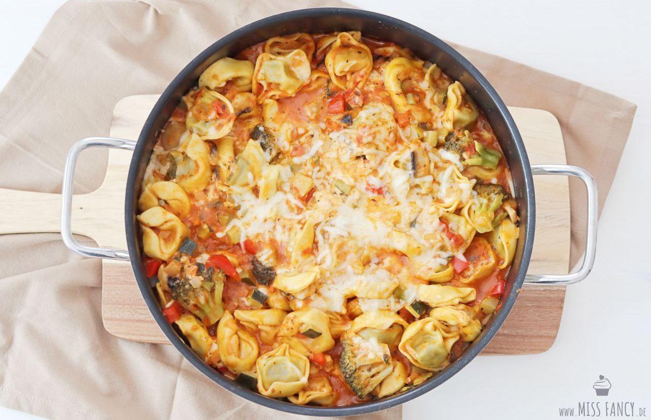 Rezept-Tortellini-Gemüsepfanne