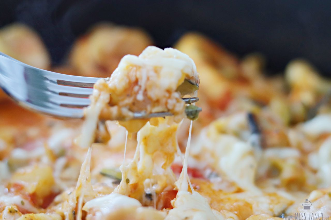 Rezept-leckere-Tortellini-Gemüsepfanne