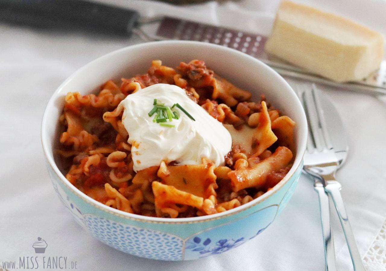 Rezept One Pot Nudeln a la Lasagne