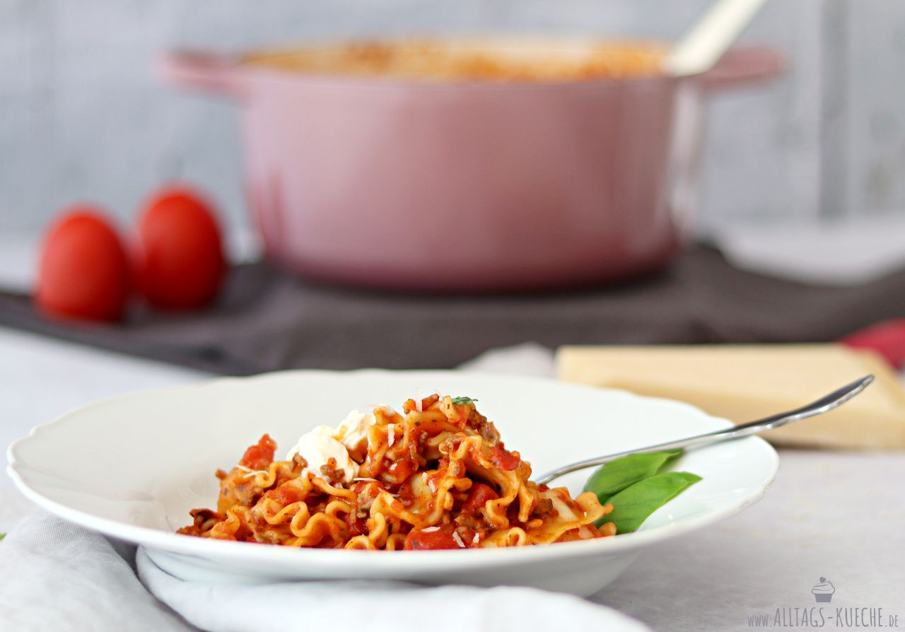 Leckeres One Pot Pasta Lasagne Gericht