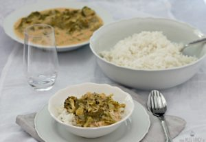 Leckeres veganes Thai Curry mild