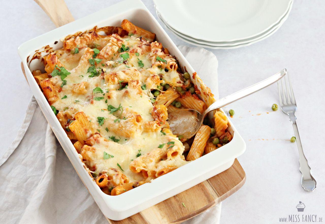 Rigatoni al forno Pasta aus dem Ofen